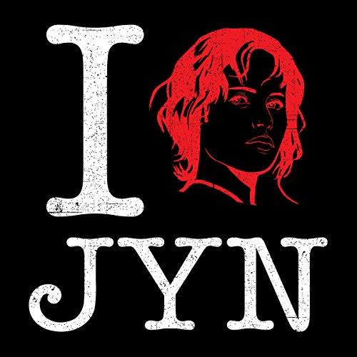 Star Wars Rogue One I Heart Jyn Erso White Women's Sweatshirt Black