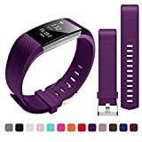 Bepack Fitbit charge2 Armband, TPU Soft Silikon Charge 2 Armbänder Original Sportarmband Erstatzband Uhrenarmband für Fitbit Charge 2 Fitness Wristband Large Small