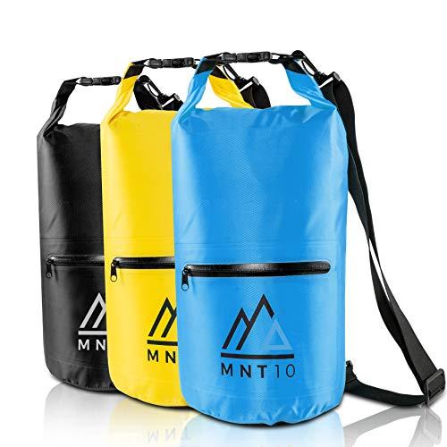 MNT10 Dry Bag Packsack wasserdicht mit Tragegurt I Dry Bags Waterproof 10l I Tasche Wasserdicht für Reisen, Outdoor und Camping I Seesack wasserdicht und widerstandsfähig (Blau, 10 Liter)