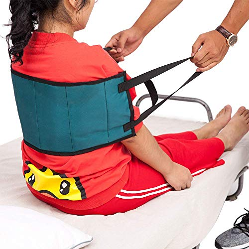 QEES ZYD02 Gepolsterte Transferschlinge - Moving Assist Hebehilfe Gurt Gerät Gepolsterte Griffe, Medizinischer Gürtel für Rollstuhl, Bett -