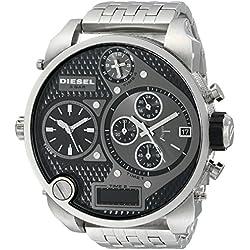 Diesel Herren-Armbanduhr XL Mr. Daddy Multi Movement Analog - Digital Quarz Edelstahl DZ7221