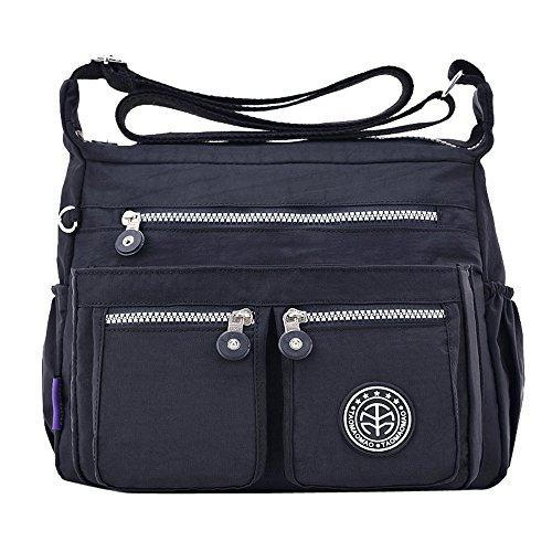 OYSOHE Damen Einfarbig Wasserabweisend Nylon Umhängetasche Tasche Rucksack -