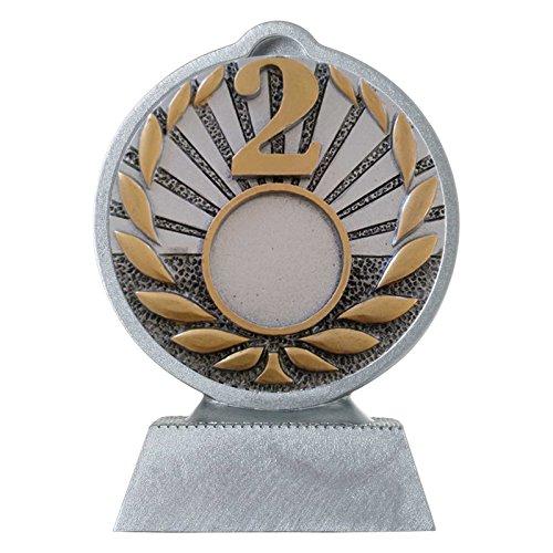 pokalspezialist Pokal mit 3D Motiv Zweiter Platz 2 Serie Ronny 10,5 cm hoch (Den Zweiten Platz)