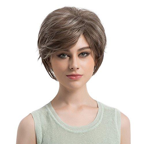 Bluestercool Natürliches Licht Gerade Kurze Haare Perücken Kurze Damenmode Perücke Neue Perücken Frauen