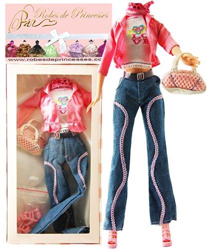 """Vestito da principessa """"FIVE"""" per Bambole Barbie, Disney ed altri personaggi."""