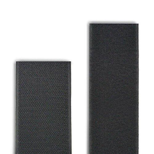 5Yard Aufnäher Rolle Haken Loop Tape Hard Soft Nylon 25385063100mm schwarz, 2