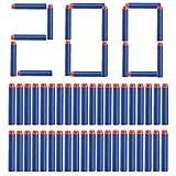 Topways® 200 pcs 7.2cm Foam Zubehör Refill Bullet Dart für Nerf Pfeile Pistole Gun N-Streik Elite Series Blasters Darts ( Blau 200 Stück)