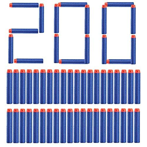 Topways® 200er 7.2cm Foam Pfeile Zubehör Refill Bullet Dart für Nerf Pistole Gun N-Streik Elite Series Blasters Spielzeugpistole Spielzeugblasterzubehör ( Blau 200 Stück)