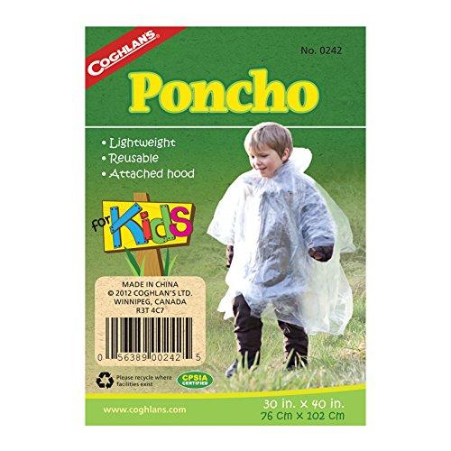 Coghlan's Unisex Adult C0242 Emergency Poncho - Transparent, One Size