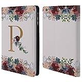 Head Case Designs Offizielle Nature Magick R Blumen Monogramm Blumig Gold 2 Brieftasche Handyhülle aus Leder für iPad Mini 1 / Mini 2 / Mini 3