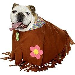 Smiffys - Disfraz de hippie para perro