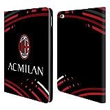 Head Case Designs Ufficiale AC Milan Curvato 2018/19 Modelli Cresta Cover a Portafoglio in Pelle per iPad Air 2 (2014)