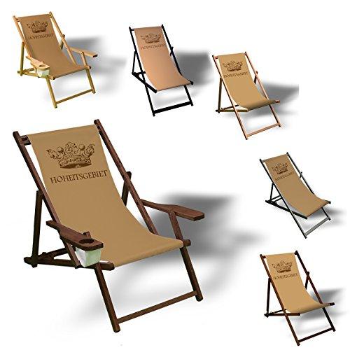 Printalio Hoheitsgebiet - Liegestuhl Bedruckt Balkon Garten Sonnenliege Relax Holz Terrasse   mit...