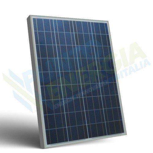 Placa Solar Fotovoltaico 100W 12V Policristalino Implant Camper Barco Baita