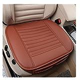 1 PCS PU Leder Bambus Holzkohle Breathable Komfortable Autozubehör Sitzbezüg Vier Jahreszeiten General Autozubehör Einzelsitzbezüge (Braun)