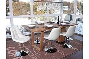 6 X Esszimmerstuhl Weiss Stuhlset Stuhle Drehbar Kuche Modern Design