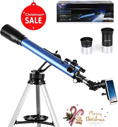 TELMU Téléscope Astronomique - 60 / 700 mm Téléscope,...