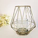 Luxus hoch Geometrische Gold Kerzenhalter