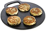 "KitchenCraft Round Cast Iron Baking Stone / Cooking Girdle, 27 cm (10.5"")"