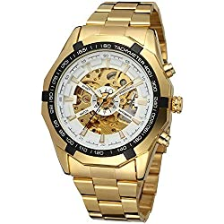 Forsining Mens Automatic Dress Analog Stainless Steel Bracelet Round Watch FSG8042M4G1