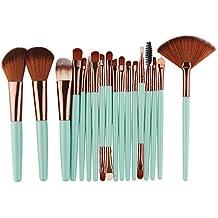 Bestow 18 Sets de Pinceles de Maquillaje Maquillaje Kit de Aseo Lana Maquillaje Cepillo