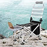 GG-Fishing chair Lettino da Campeggio con Cuscino per Pesca alla Carpa in Schiuma di Memoria inclinata con Cuscino