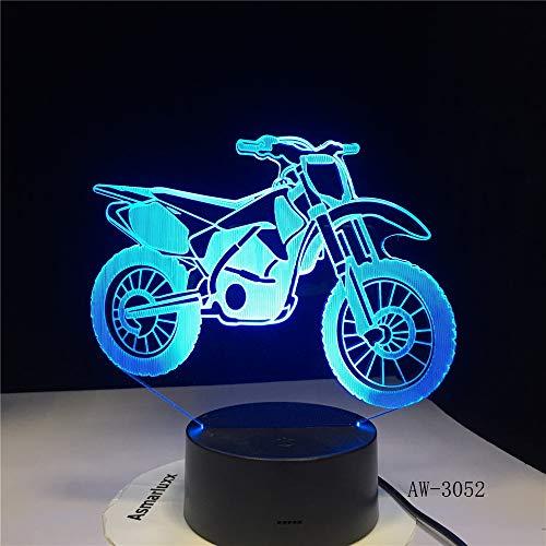 Luminoso modello di moto 3D phantom LED luci colorate tocco notte luce flash illuminazione nel buio incandescente giocattolo-3052