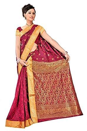 Kanchipuram Art Silk Saree-Red
