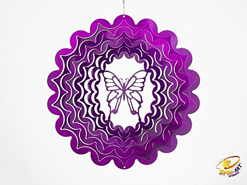 Butterfly Outdoor-dekor (Spin Art Designer Butterfly Wind Spinner)
