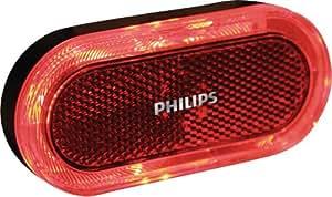 Philips SRRBLRBNBX1 LightRing Eclairage LED arrière pour vélo - Batterie AAA - Rouge/Noir