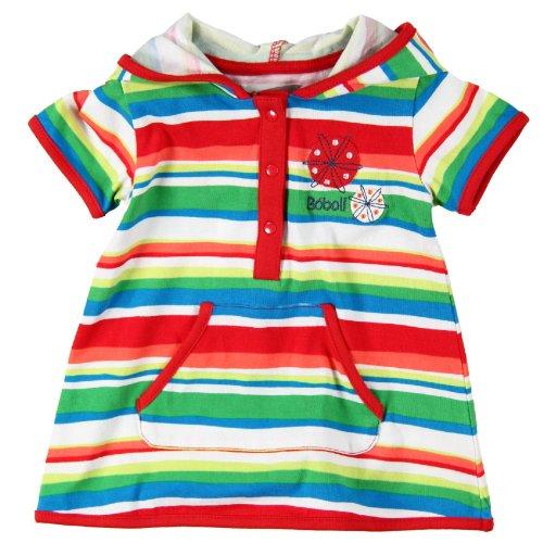 boboli Baby - Mädchen Kleid 234032, Gr. 80, Mehrfarbig (STRIPES)