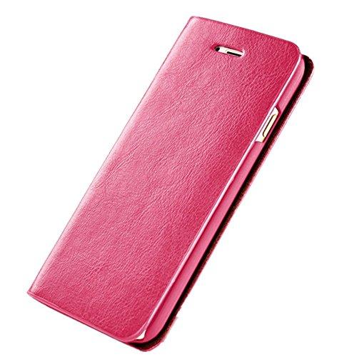 Funda iPhone 6/6S Carcasa PU Leather Con Soporte Plegable,Ranuras