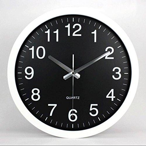 ZLR Mute De Mode Circulaire Mode Mute Horloge Murale Salon Pendaison Horloge Horloge À Quartz Creative ( Couleur : C )
