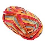 perfk 100g Textilgarn zum Häkeln und Stricken, Jerseygarn Häkelfaden Polyester für Handwerk DIY Projekte - 13