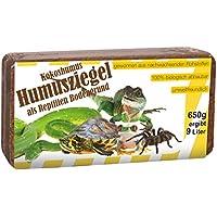 Humusziegel RBG650G Terrarienerde gepresst Ziegel, Reptilien Bodengrund, 650 g