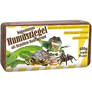 [Gesponsert]Humusziegel RBG650G Terrarienerde gepresst Ziegel, Reptilien Bodengrund, 650 g