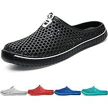 6be23e486f0 BIGU Unisexe Chaussures Sabots Respirant Chaussures de Jardin D Été Amants  Pantoufles Plage Sandales Hommes