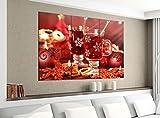 Acrylglasbilder 3 Teilig 120x100cm Weihnachten Tee Tisch Küche rot Druck Acrylbild Acrylglas Acrylbilder Wand Bild 14E1729, Acrylgröße 8:gesamt 120x100cm