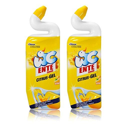 Citrus-gel-reiniger (2x WC Ente Citrus-Gel WC Reiniger Citrus 750 ml)