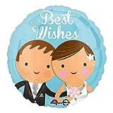Amscan 3518601 Folienballon Hochzeit Wishes