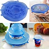 Universal Silicone Reusable Bowl Stretch Cover Set Of 6 Multi Size