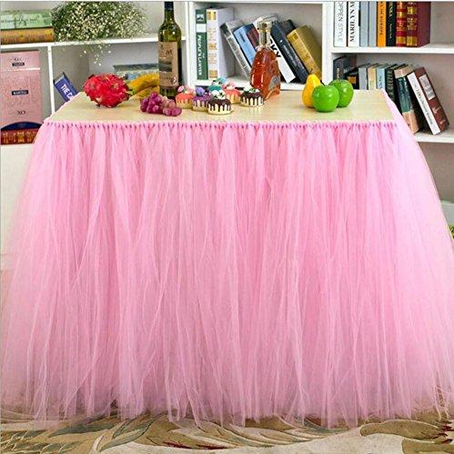 Tisch Schminktisch Rock Tüll Tischdecke für Party Tisch Abdeckungen Baby Dusche Party Hochzeit Geburtstag Dekoration Home Decor Mädchen, 100x 80cm (1Stück) 1