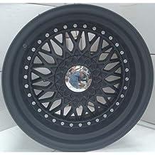 2x Alloy Wheels BBS RS Style 16X9.0 Matt Black Greggson GG-63-CC - Llantas de aleación (BBS RS estilo 16 x 9, 2 unidades), color negro mate