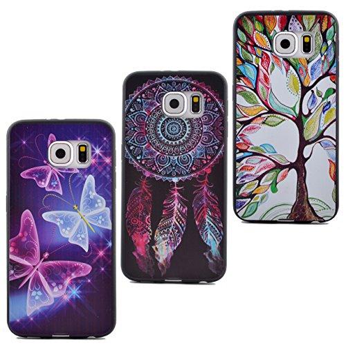 Preisvergleich Produktbild J-T House® Samsung Galaxy S6 Handyhülle Case X 3 pcs Silikon Transparent Hülle Effekt Weiche Case Schutzhülle Fallabdeckung Cover für Samsung Galaxy S6