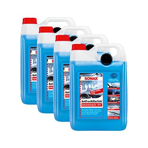 SONAX 4X 03325000 AntiFrost&KlarSicht gebrauchsfertig bis -20°C Frostschutz 5L