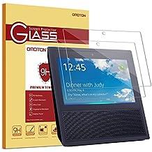 [2 Stück] OMOTON Panzerglas Display-Schutzfolie für Amazon Echo Show - Ultra-transparent [9H Härte] [blasenfrei] [Anti-Fingerabdruck] [Anti-Kratzer] [Anti-Schmutz] [Anti-Reflex]