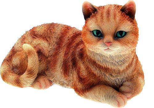 Chat tigré H.11 cm