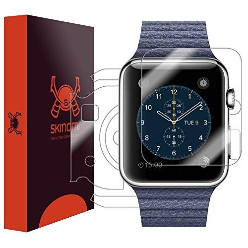 Flüssigkeit Zifferblatt (Skinomi TechSkin-Schutzfolie für Apple Watch, Apple Watch 1-42mm-für das Display und die Rückseite des Zifferblatt + Wasserfest)