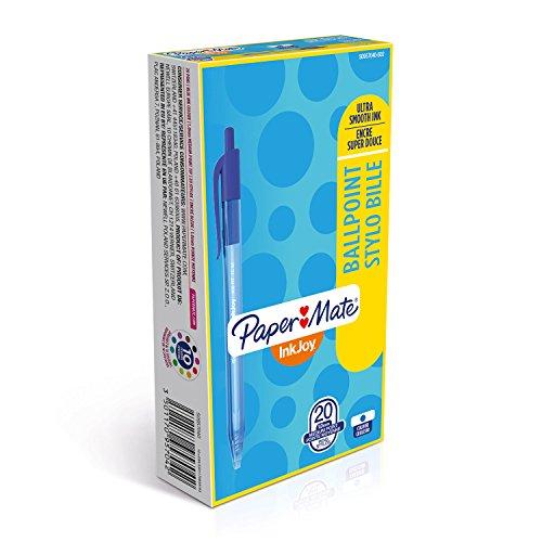 Papermate Inkjoy 100 Scatto S0957040 Penna a Sfera, Confezione da 20, Blu