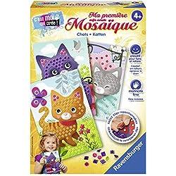 Ravensburger-Ma première mosaïque Chats Loisir Créatif, 4005556183548